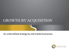 Growth By Acquisition