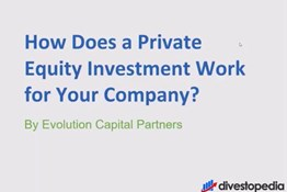 How does a private equity investment work for a business owner?