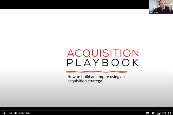 Image for Acquisition Playbook Workshop - Aug 10, 2021