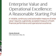 Enterprise Value and Operational Excellence: A Reasonable Starting Point