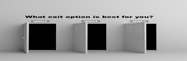 What are realistic exit options for a middle market business?